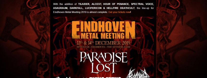 Eindhoven Metal Meeting - Mobile and SEO optimised website for the renowned metal festival Eindhoven Metal Meeting