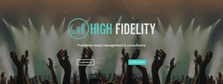 High Fidelity - Mobile and SEO optimised one page website for the High Fidelity Marketing