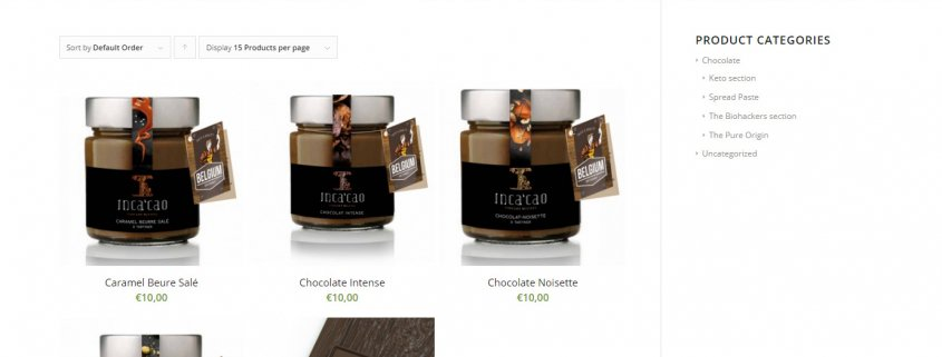 Inca'cao - Webshop for ketobased chocolate products