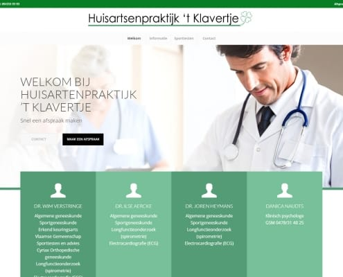 Huisartsenpraktijk 't Klavertje - Standard website for group of doctors